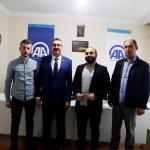 Rektör Şahin'den, AA Tekirdağ Bürosuna ziyaret