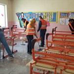 Okulların tamirat ve tadilatını hükümlüler yapıyor