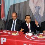 MHP Sivas Milletvekili Özyürek seçim bürosu açılışına katıldı