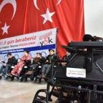 Gaziantep'te engellilere tekerlekli sandalye