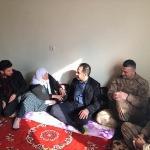Kaymakam Yakınoğlu, şehit ailesini ziyaret etti