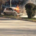 Adıyaman'da araç yangını