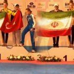 Milli sporcudan İranlı rakibine bayrak dersi!