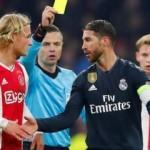Bilerek kart gören Ramos'a men cezası!