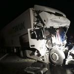 Gaziantep'te iki tır çarpıştı: 1 ölü, 1 yaralı