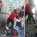 Dehşeti kameraya aldılar! Genç kızı tekme tokat dövdüler...