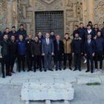 Sivassporlu futbolcular Ulu Cami'yi gezdi