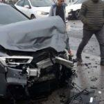 Trabzonsporlu futbolcu kaza yaptı