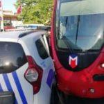 Fatih'te bir polis aracı ile tramvay çarpıştı