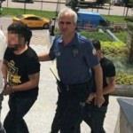 Kadın polislere laf atınca yakalandılar