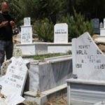 Mezarlıkta şoke eden görüntü!