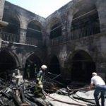 Kayseri'de tarihi handa yangın