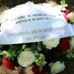 Şehit edilen Türk diplomat Brüksel'de anıldı