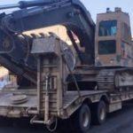 Suriye sınırına askeri iş makinesi sevkiyatı