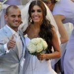 Sneijder, eşi Yolanthe Cabau'ya servet ödeyecek