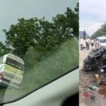 Devlet başkanının konvoyunda korkutan kaza