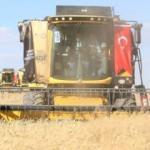 Başkan Erdoğan, biçerdöver kullandı