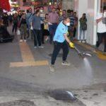Trabzon'un en işlek caddesinde panik! Yüzlercesi istila etti