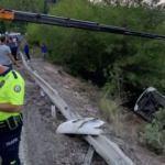 Tur otobüsü şarampole yuvarlandı: 41 yaralı
