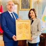 Rektör Mahmut Ak'a Ahde Vefa Ziyareti