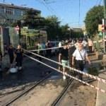Cevizlibağ'da tanker tramvaya çarptı, seferler çift yönlü durduruldu
