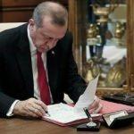 Cumhurbaşkanı Erdoğan'dan atama ve görevden almalar