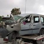 Aksaray'da hafif ticari araç devrildi: 6 yaralı