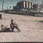 Aracı çekilen sürücü, 1'i polis 3 kişiyi darp etti