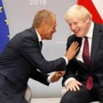 Johnson ve Tusk Fransa'da görüştü