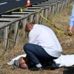 Kazada ölen amcasını gözyaşları içinde teşhis etti