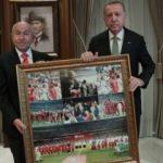Başkan Erdoğan, TFF Başkanı Nihat Özdemir'i kabul etti