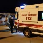 Ambulans uçak bir günlük bebek için havalandı