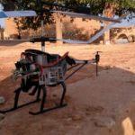 Ayn İsa'da drone helikopter düşürüldü