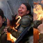 Ülkede şoke eden görüntü! Diri diri yaktılar