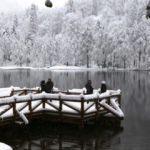 Artvin'in Borçka ilçesindeki saklı cennet Karagöl beyaza büründü