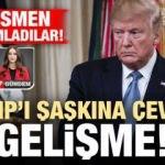 Trump'ı şaşkına çeviren gelişme! Resmen yayımladılar