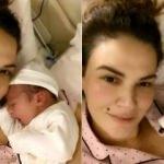Ünlü top model Tülin Şahin bebeğini kucağına aldı! İşte bebeği