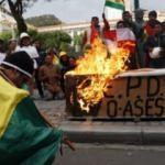 Morales'e destek gösterileri sürüyor! Yüzlerce kişi toplandı
