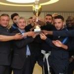 Şahinbey Ampute Türkiye Kupası'nı Başkan Tahmazoğlu'na hediye etti