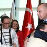 Erdoğan'la bir araya geldiler! Duygu yüklü anlar