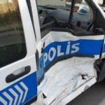 Samsun'da polis aracı ile minibüs çarpıştı: 2 polis yaralı