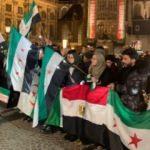 Amsterdam'da İdlib'deki saldırılar protesto edildi