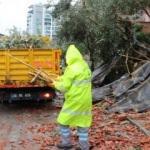 Antalya'da şiddetli rüzgar ve sağanak etkili oluyor