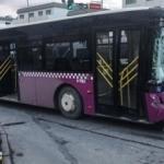Zeytinburnu'nda otobüs kazası!