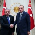 Cumhurbaşkanı Erdoğan, Meclis Başkanı Şentop'u kabul etti