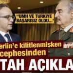 Tarihi zirve devam ederken Hafter cephesinden küstah Türkiye açıklaması!