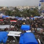 Irak polisi müdahale etti! Tahrir'deki çadırları yaktılar