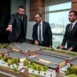 Hidayet Türkoğlu dev projeyi Bakan'a gösterdi