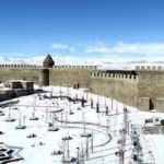 Erzurum'un tarihi mekanları kışın bir başka güzel