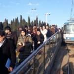 İstanbul'da işe gidiş saatinde tramvay seferlerinde aksama!